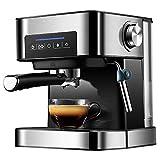 WXLSQ Kaffeevollautomat 1.6 Liter aus Edelstahl mit Touchfunktion und kostenlosem Milchbehlter,...