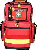 Notfallrucksack LEER medium ca. 23 L - Nylon rot - gelbe Reflexstreifen