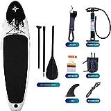 NBVCX Outdoor Utensilien Aufblasbares Stand Up Paddle Board mit Premium SUP Zubehör Tragetasche...