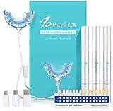 Teeth Whitening Kit MayBeau Zahnaufhellung Set mit Hochwertig 24X LED Licht 3 Zahnaufhellung Stifte...