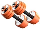 BATOWE Hantel Body Workout Home Gymnastik Dumbbell Hand Gewicht Barbell Perfekt Mit PVC Gummi Ring...