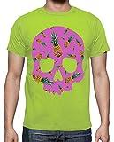 tostadora - T-Shirt Ananas Schadel P - Manner Pistazie XL