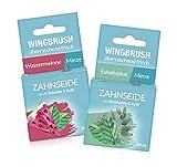 WINGBRUSH Zahnseide 2er-Set | 2 erfrischende Sorten für schöne, gepflegte Zähne, 1x...