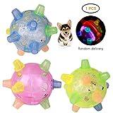 SayHia Pet Toys Aktivierungsball springen, LED-Flash-Musik-Tanzball-Spielzeug,...
