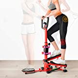 Cocoarm 4in1 Stepper Fitness Ministepper mit Handgriff und LCD-Display Multifunktionale...