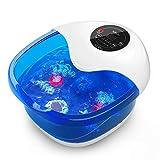 Fußbad Misiki Fussbad mit Heizung, Elektrische Fußbäder Fußsprudelbad Massage mit Wärmefunktion...
