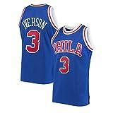 NBNB Allen Iverson Herren Basketball Trikot - Philadelphia 76ers # 3, 90S Hip Hop für Party Retro...