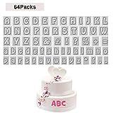 Buchstaben Ausstecher (64 Pcs) - BPA Freiem Kunststoff A - Z Fondant Ausstechform Buchstaben (2cm),...