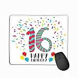 Rechteck Rechteck rutschfest Gummi Mousepad Alles Gute zum Geburtstag Jahr Party Einladungskarte...