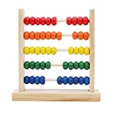 Botreelife Holz Montessori Abacus Spielzeug Mathe Lernhilfe mit 100 Perlen Zählrahmen Lernspielzeug...