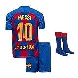 Barcelona Messi 2019/2020 Heim Trikot und Shorts mit Socken Kinder und Jugend Größe (164)