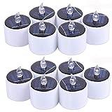 LXT PANDA Solar-LED-Kerzen, flackernde elektronische flammenlose LED-Solarkerze, rauchfrei für...