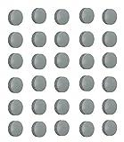 30x Magnete, Grau  24mm, Haftmagnete fr Whiteboard, Khlschrankmagnet, Magnettafel, Magnetwand,...