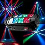 NBVCX WohnaccessoiresParty Bühnenlichter Moving Head DJ Spider Light LED Tragbares DJ Disco...