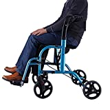 LXCS Compact Senioren-Einkaufswagen schieben, Rollator Sitze und Pedale, Mobilittshilfe for Senioren...