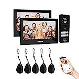 TMEZON WLAN 2 Familienhaus IP Video Türsprechanlage, Gegensprechanlage System mit 2 * 7 Zoll 1080P...