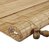 GLJJQMY Raffrollo Bambus Vorhang Chinesische Römische Vorhang Hebesystem Hängevorhang Verdunkelung...