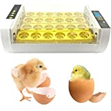 Eierinkubator, 24-Inkubator-Brutapparat mit automatischem Turner, Temperatur- und...