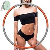 Hula Hoop zur Gewichtsreduktion,Reifen mit Schaumstoff ca 1 kg mit Mini Bandmaß, Einstellbares...