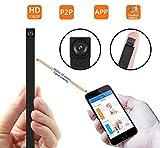 Mini Kamera, 1080P Videorecorder Tragbare WLAN Netzwerk Klein IP Kamera P2P Drathlos mit...