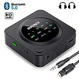 Bluetooth 5.0 Audio Adapter, BOIROS Transmitter Empfänger 2 in 1, LED Anzeige, für TV Laptop...