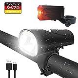 LIFEBEE LED Fahrradlicht, LED Fahrradbeleuchtung StVZO Zugelassen USB Wiederaufladbare Frontlicht...