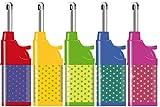 Fzg Stabfeuerzeug 10,5cm Punkte farbig 5er Pack Leichtbedienung Seniorengerecht Anzünder BBQ