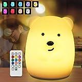 Nachtlicht Baby, Redmoo Nachtlicht Kind Silikon USB LED Nachtlicht Kinder Nachttischlampe Touch...