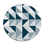 JXXDDQ Runder Teppich Einfache Geometrische Muster Wohnzimmer Schlafzimmer Nachttisch Studie...