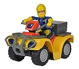 Simba 109257657 - Feuerwehrmann Sam Mercury-Quad, mit Sam Figur und Zubehör, für Kinder ab 3...