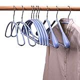 TYOLOMZ Kleiderbügel für Erwachsene, rutschfest, Metall, 10 Stück