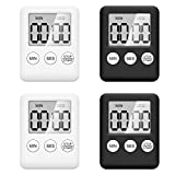 Digitaler Küchentimer ,4 Stücke Küchenwecker mit Alarm Erinnerungsfunktion, Kurzzeitmesser Timer...