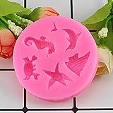YTYASO DIY Shell Sea Animals Kuchen Silikon Backformen CupcakeKuchen Dekorationswerkzeuge...