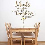 Mahlzeiten sind zum Lachen gemacht Zitate Wandtattoo Küche Vinyl Wandaufkleber Abnehmbare...