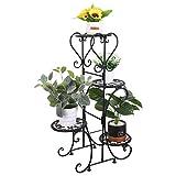 Blumentreppe 4 Ebenen: Pflanzenregal Aus Metall, Blumenstnder fr innen und auen, HBT: ca....