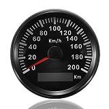 ELING KM GPS Tacho Kilometerzähler 200km/h für Auto Marine Truck mit Hintergrundbeleuchtung 85mm...