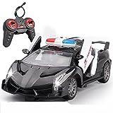 WZRYBHSD Ferngesteuertes Polizeiauto 4WD Sportwagen, Öffnen Sie Die Tür Durch RC, Fallfestes...