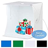 Feketfen Studio Hintergrundtuch, 40Cm große Studio LED Lichtbox Fotografie Foto Requisiten tragbare...
