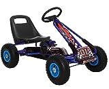 Lean Kinder Go Kart Racing Car Full Speed Tretauto Gokart Blue 3-7 Jahre mit Vollgummireifen