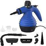 Comforday-Dampfreiniger als Handgerät mit 9 Zubehörteilen für Fleckenentfernung, Bedampfung,...
