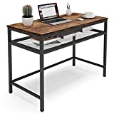 Tribesigns konferenztisch Kleiner Computertisch mit Metallgitter-Lagerregal,Kleiner Schreibtisch aus...