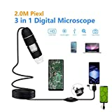 Digitales Mikroskop 50x zu 1000X, USB 2.0 Vergrößerung Endoskop, LED-Mini-Mikroskop Kamera mit...