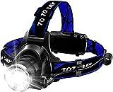 vonivi 6400mAh Stirnlampe LED, USB Wiederaufladbare Stirnlampe Kopflampe Leichtgewichts für Laufen...