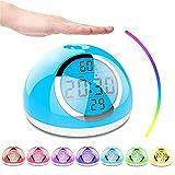Yzllq Wake-up-Licht, 7 Farben Nacht Wake-up-Licht, Nachtlicht Wecker, LED-Naturgeräusche und Touch...