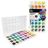 Mont Marte Wasserfarben Set - 36 brilliante Farben - Hohe Pigmentierung - Inklusive Pinsel -...