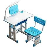 70cm Kinderschreibtisch Höhenverstellbar Neigbar, Ergonomischer, Schreibtisch und Stuhl Set mit...