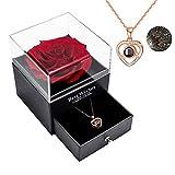 Erhaltene echte Rose Ewige handgemachte erhaltene Rose mit Liebe Sie Halskette, verzauberte echte...