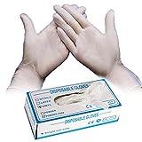 beautijiam Einweg-PVC-Handschuhe, 80 Stck/Box, lebensmittelecht, Puder, Hygiene, schtzende...