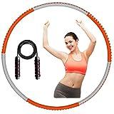 ALAKAYA Fitness Hoola Hoop Reifen für Erwachsene mit 1,3 kg Gewicht, Wellen und abnehmbare...