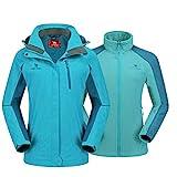 CAMEL CROWN Damen Outdoor 3-in-1 Skijacke mit Fleece Jacke, Wasserdicht Winddicht Warm Atmungsaktiv...